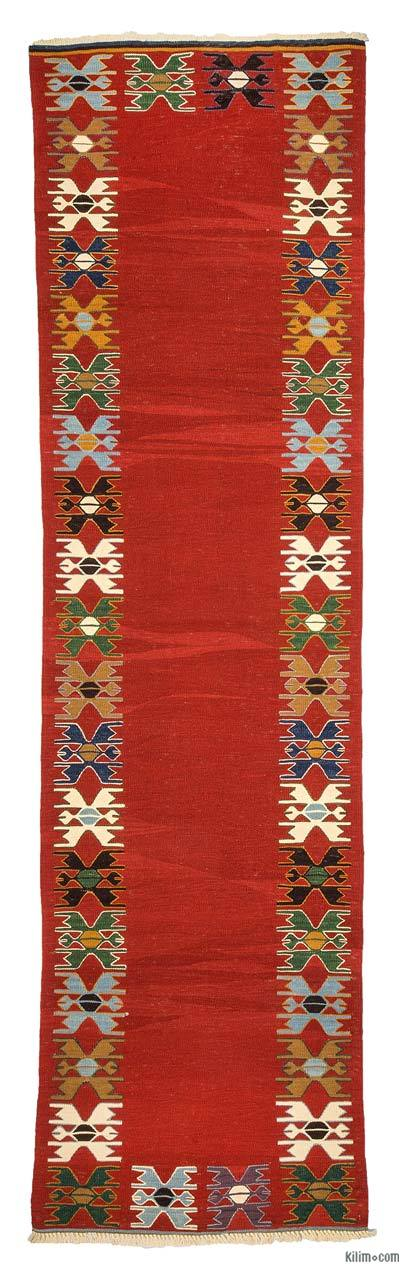 "New Turkish Kilim Runner - 2' 10"" x 10' 4"" (34 in. x 124 in.)"