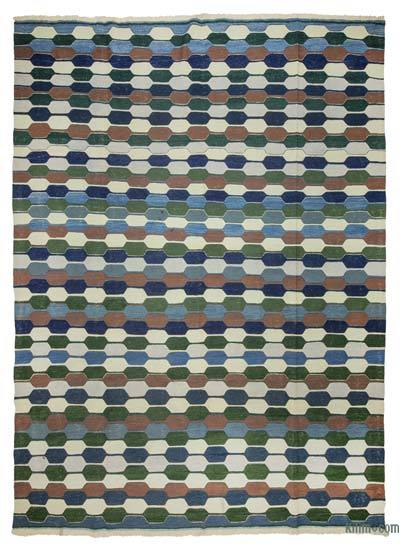 "New Handwoven Turkish Kilim Rug - 8' 7"" x 11' 8"" (103 in. x 140 in.)"