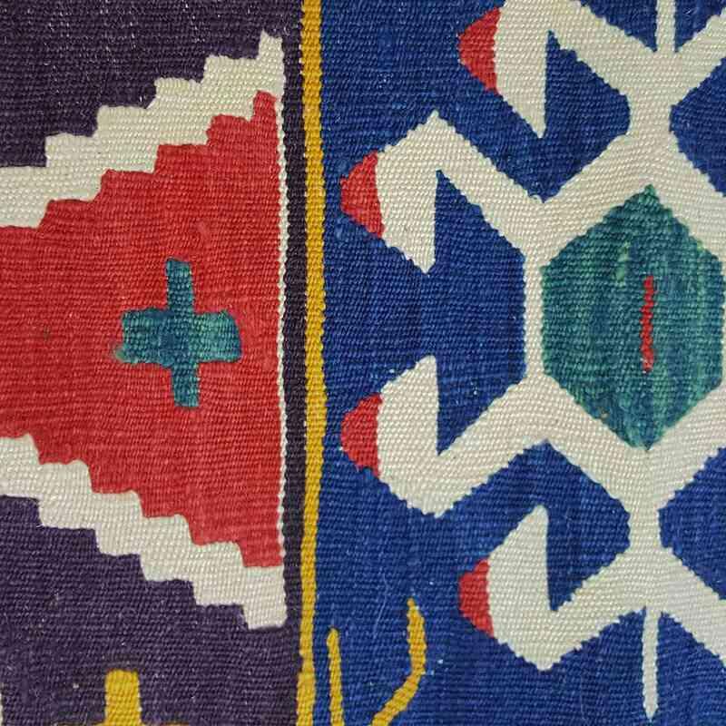 Çok Renkli Yeni Kök Boya El Dokuma Kilim - K0033153
