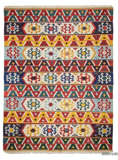 "New Handwoven Turkish Kilim Rug - 7' 3"" x 9' 6"" (87 in. x 114 in.)"