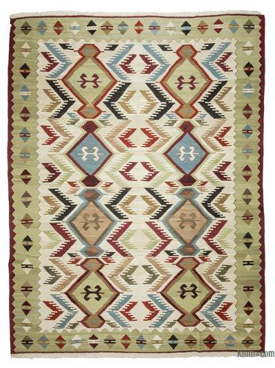"New Handwoven Turkish Kilim Rug - 8' 4"" x 10' 10"" (100 in. x 130 in.)"
