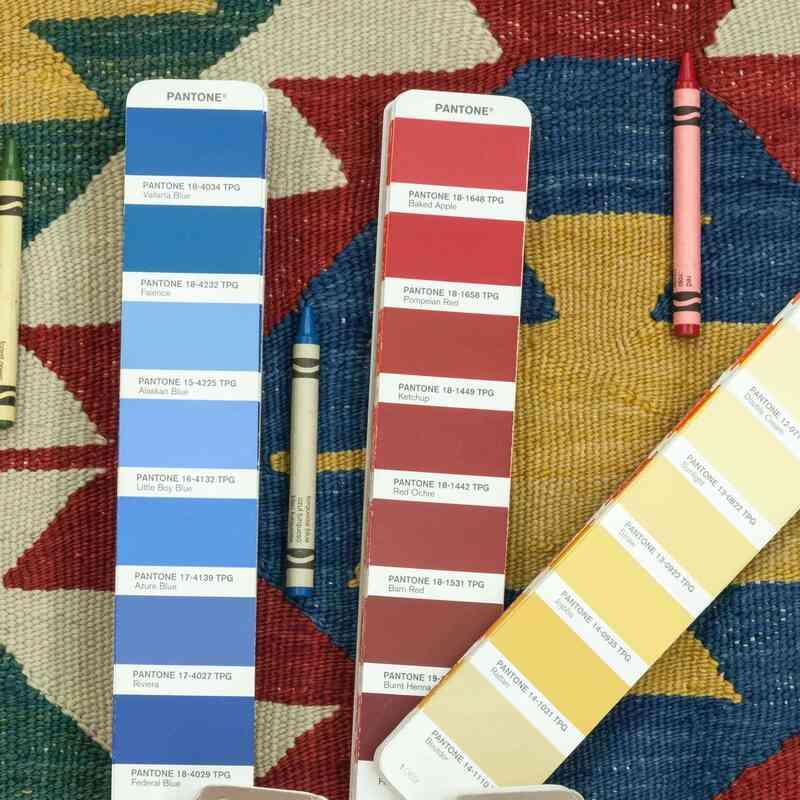 Çok Renkli Yeni Kök Boya El Dokuma Kilim - 270 cm x 336 cm - K0033161