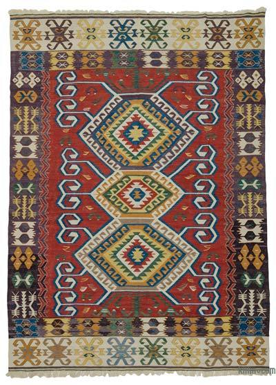 "New Handwoven Turkish Kilim Rug - 8' 10"" x 11'  (106 in. x 132 in.)"
