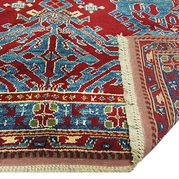 Red, Blue New Turkish Pile Rug - 5' 5# x 6' 4# (65 in. x 76 in.) - K0033167