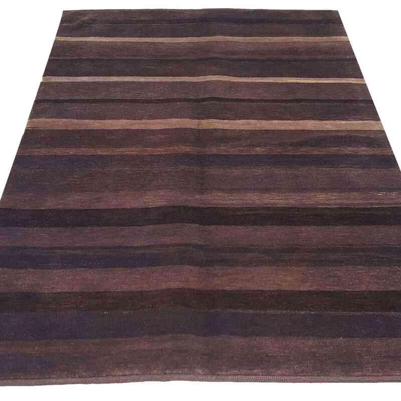 "Purple New Turkish Pile Rug - 4' 2"" x 6' 1"" (50 in. x 73 in.) - K0033170"