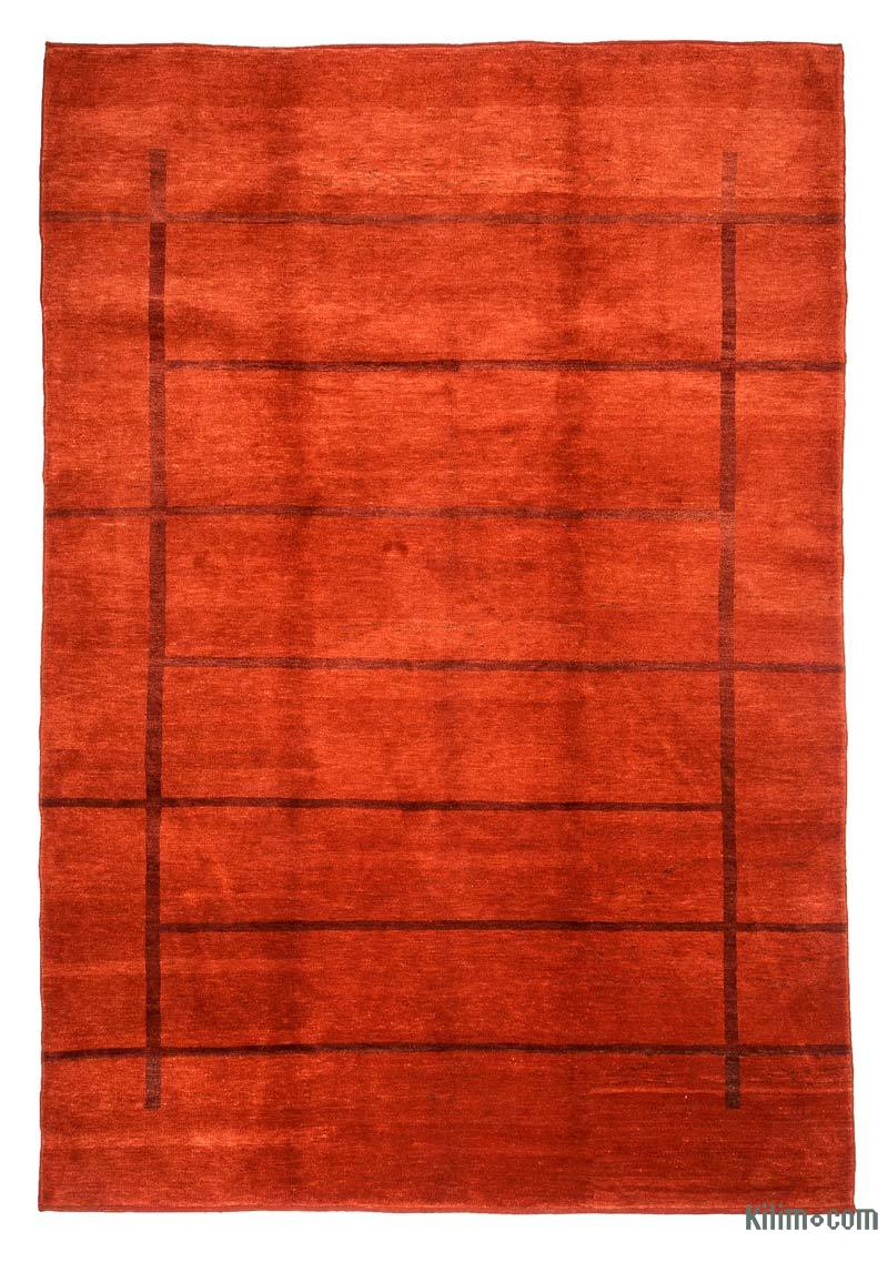 """Red New Turkish Pile Rug - 6'  x 8' 8"""" (72 in. x 104 in.) - K0033173"""