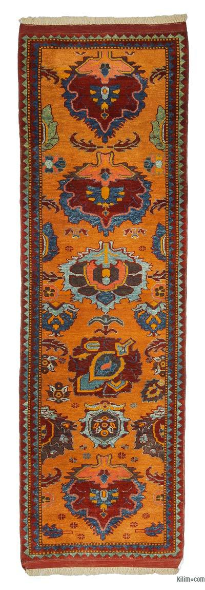 "New Turkish Pile Runner Rug - 2'9"" x 8'6"" (33 in. x 102 in.)"