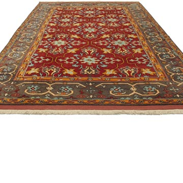 """Red New Turkish Pile Rug - 6' 8"""" x 9' 11"""" (80 in. x 119 in.) - K0033178"""