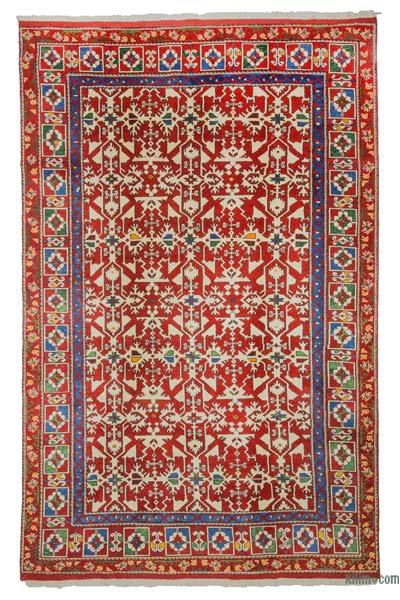 "Red New Turkish Pile Rug - 6' 9"" x 10' 7"" (81 in. x 127 in.)"