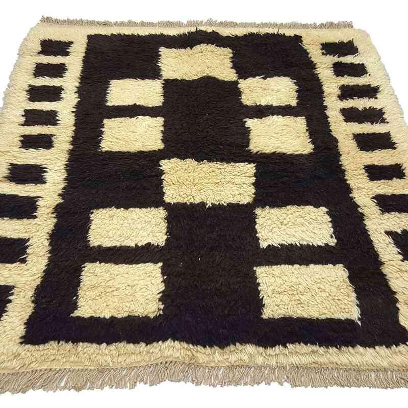 Brown, Beige New Turkish Tulu Rug - K0033186
