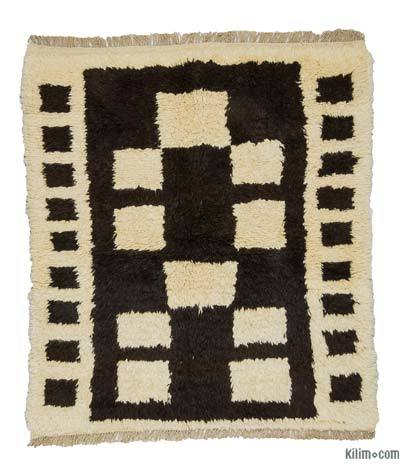 "New Turkish Tulu Rug - 4' 4"" x 4' 10"" (52 in. x 58 in.)"