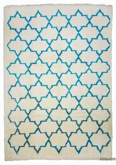Bej Fas Stili El Dokuma Tülü - 260 cm x 370 cm