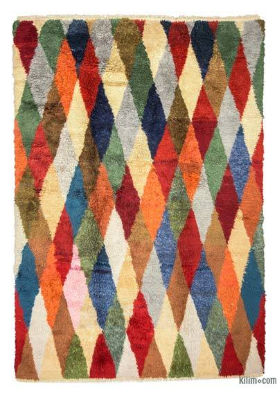 "New Turkish Tulu Rug - 7'3"" x 10'3"" (87 in. x 123 in.)"
