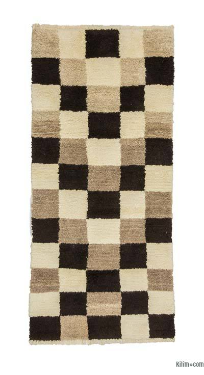"New Turkish Tulu Rug - 3' 8"" x 7' 11"" (44 in. x 95 in.)"