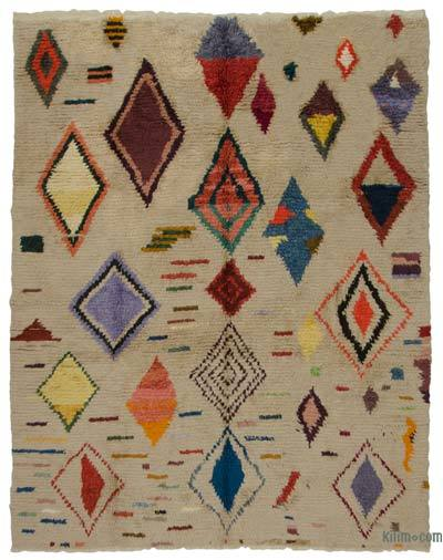 "Multicolor New Turkish Tulu Rug - 8' 11"" x 11' 3"" (107 in. x 135 in.)"