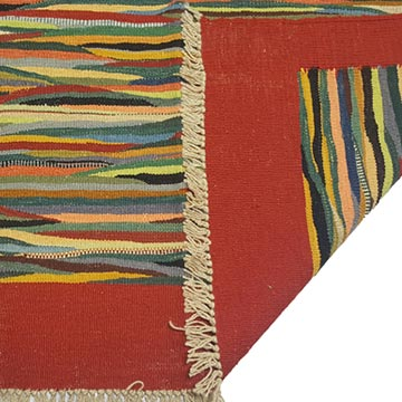 Multicolor New Handwoven Turkish Kilim Rug - 4'  x 6'  (48 in. x 72 in.) - K0033231