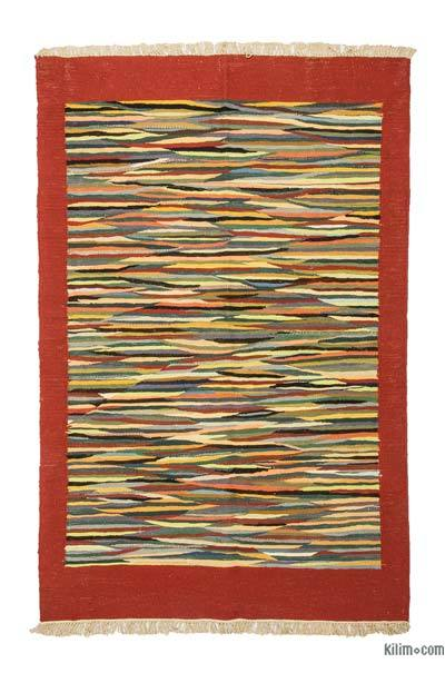 New Handwoven Turkish Kilim Rug - 4' x 4' (48 in. x 48 in.)