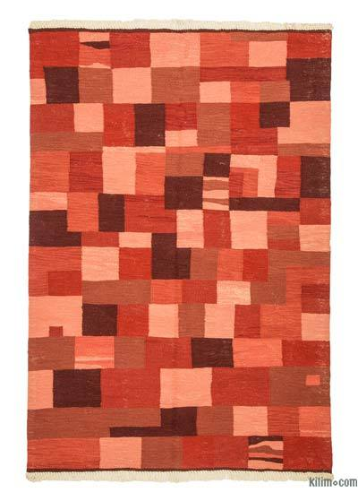 "New Handwoven Turkish Kilim Rug - 4'3"" x 6'2"" (51 in. x 74 in.)"