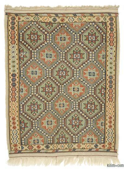 """Vintage Konya Jijim Rug - 4' 2"""" x 5' 6"""" (50 in. x 66 in.)"""