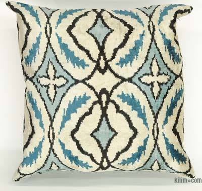 "Velvet Ikat Pillow Cover - 1' 11"" x 1' 10"" (23 in. x 22 in.)"