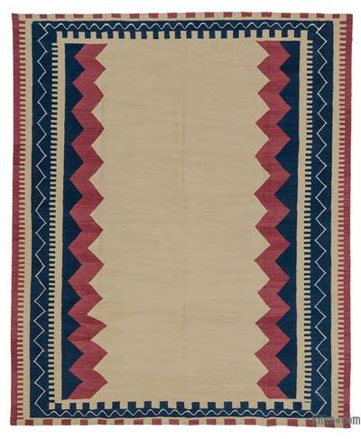 "New Turkish Kilim Rug - 7' 9"" x 9' 5"" (93 in. x 113 in.)"