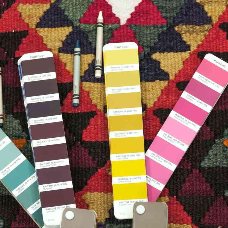 Multicolor Vintage Turkish Kilim Runner - 3' 1# x 11' 11# (37 in. x 143 in.) - K0033577
