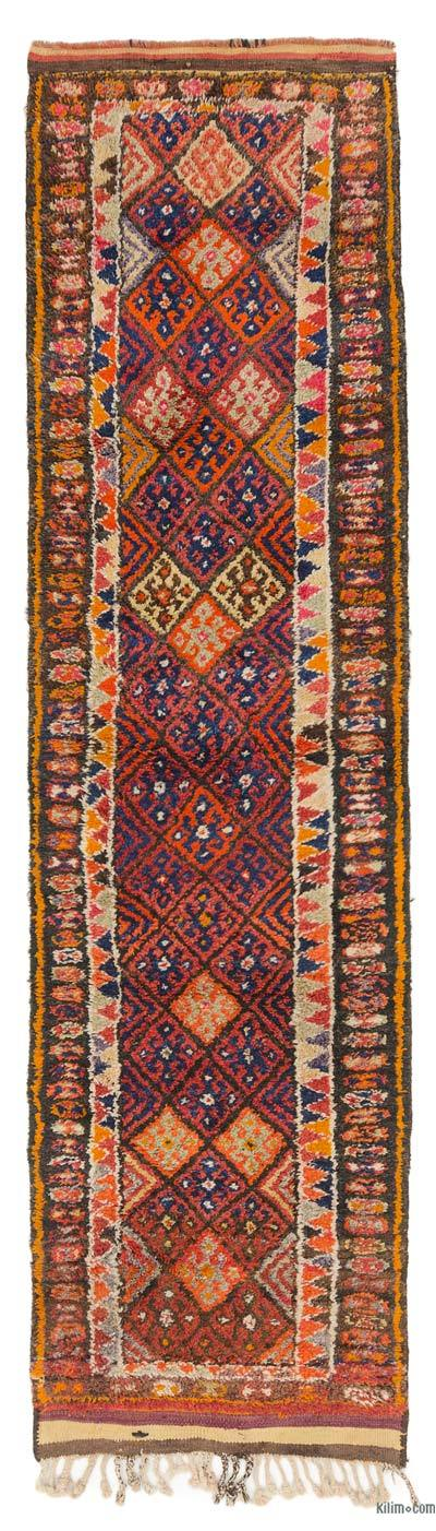 "Vintage Turkish Runner - 2'11"" x 10'11"" (35 in. x 131 in.)"