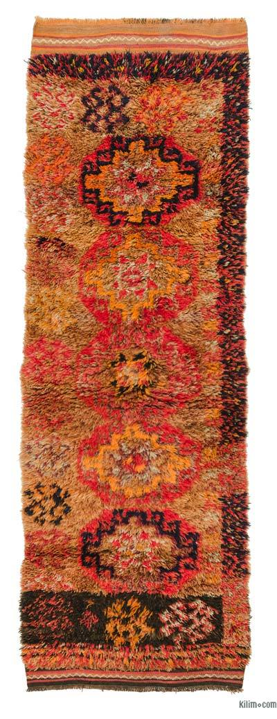 "Vintage Turkish Runner - 2' 11"" x 8' 8"" (35 in. x 104 in.)"