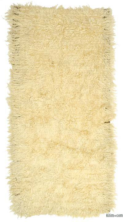 Beige New Turkish 'Filikli' Tulu Rug