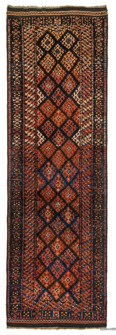 "Vintage Turkish Runner - 3'4"" x 10'6"" (40 in. x 126 in.)"