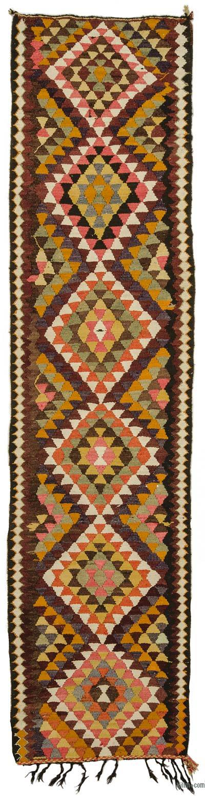 "Vintage Turkish Kilim Runner - 2' 11"" x 12' 3"" (35 in. x 147 in.)"