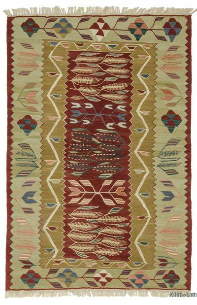 "New Handwoven Turkish Kilim Rug - 3' 9"" x 5' 11"" (45 in. x 71 in.)"