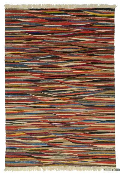 "New Handwoven Turkish Kilim Rug - 4'2"" x 5'11"" (50 in. x 71 in.)"