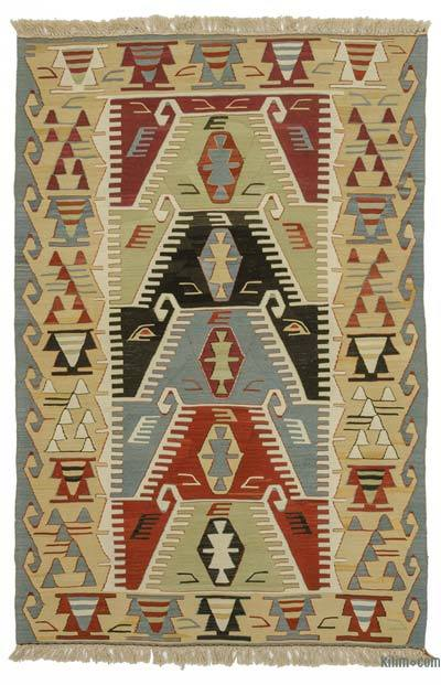 "New Handwoven Turkish Kilim Rug - 3' 10"" x 5' 10"" (46 in. x 70 in.)"