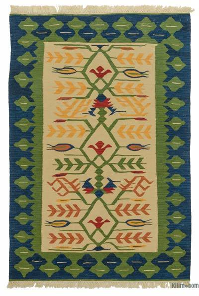 "New Handwoven Turkish Kilim Rug - 4'  x 5' 11"" (48 in. x 71 in.)"