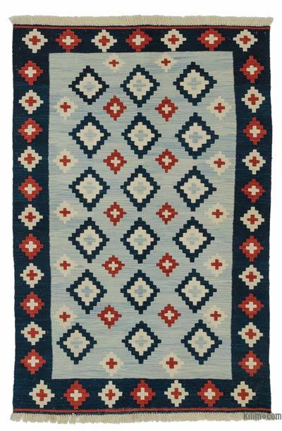 "New Handwoven Turkish Kilim Rug - 4' 1"" x 6' 2"" (49 in. x 74 in.)"
