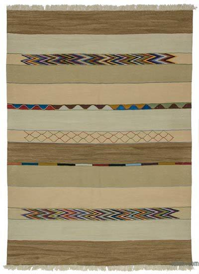 "New Handwoven Turkish Kilim Rug - 5'  x 6' 11"" (60 in. x 83 in.)"