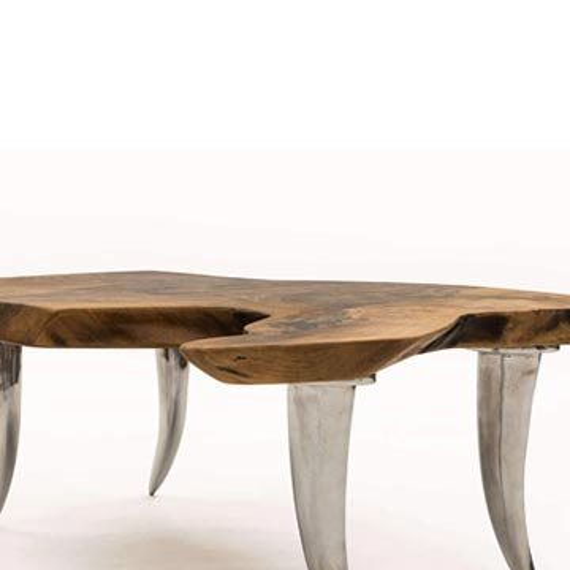 Walnut Slab Coffee Table - K0033813