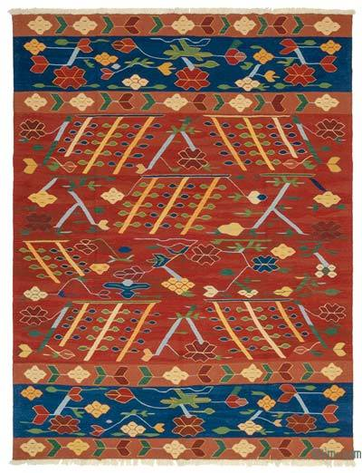 "New Handwoven Turkish Kilim Rug - 8'2"" x 10'6"" (98 in. x 126 in.)"