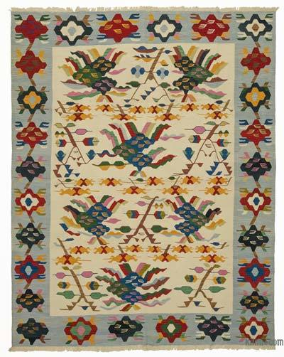 "New Handwoven Turkish Kilim Rug - 8'  x 10' 1"" (96 in. x 121 in.)"