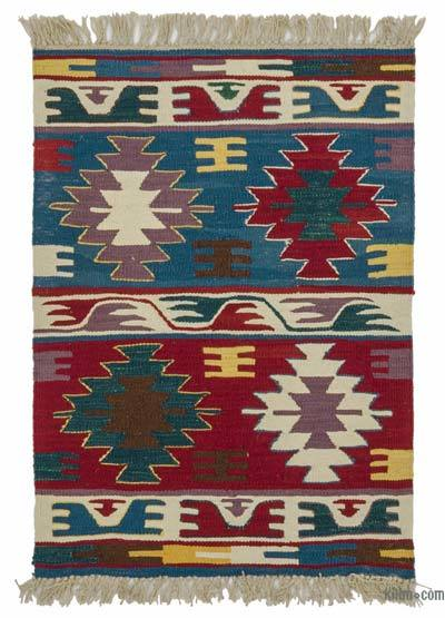 "New Handwoven Turkish Kilim Rug - 2' 2"" x 2' 11"" (26 in. x 35 in.)"