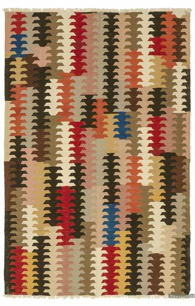 "New Handwoven Turkish Kilim Rug - 5' 9"" x 9'  (69 in. x 108 in.)"
