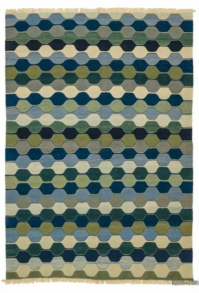 """New Handwoven Turkish Kilim Rug - 5' 11"""" x 8' 6"""" (71 in. x 102 in.)"""