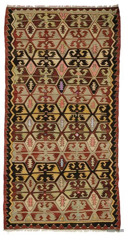 """Vintage Konya Kilim Rug  - 5' 7"""" x 10' 7"""" (67 in. x 127 in.)"""