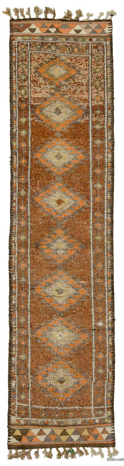 "Vintage Turkish Runner Rug - 2' 9"" x 11' 6"" (33 in. x 138 in.)"