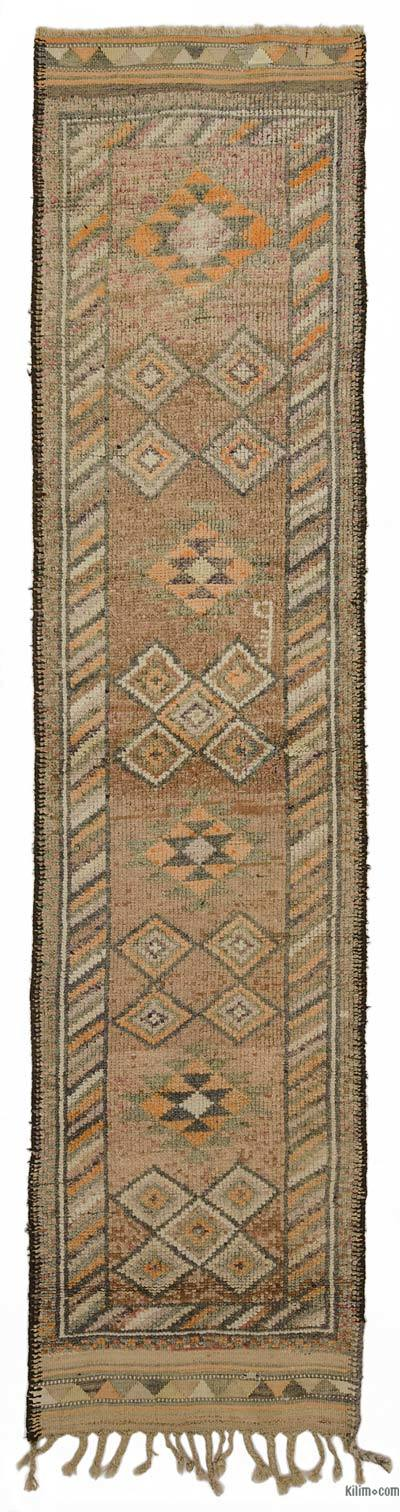 "Vintage Turkish Runner Rug - 2' 11"" x 12' 6"" (35 in. x 150 in.)"