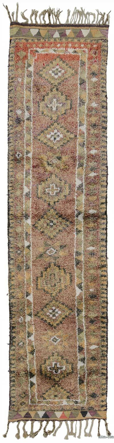 "Vintage Turkish Runner Rug - 2' 9"" x 11' 7"" (33 in. x 139 in.)"