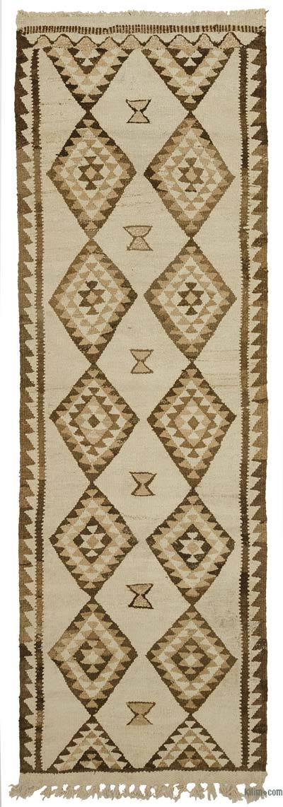 "Vintage Turkish Kilim Runner - 2' 11"" x 9'  (35 in. x 108 in.)"