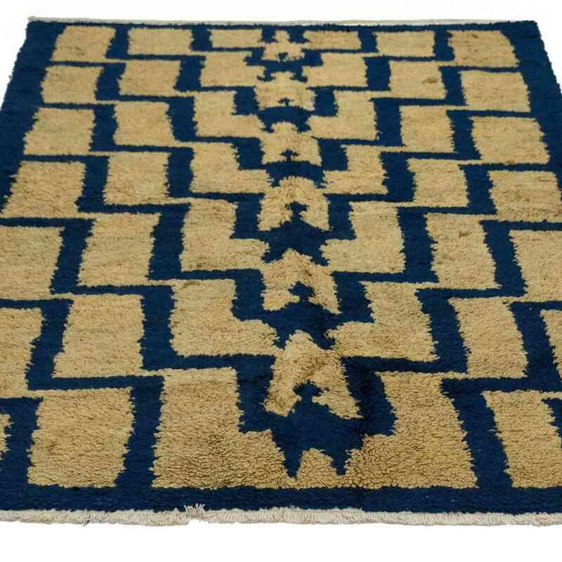 Bej, Lacivert Vintage Anadolu Tülü - K0034088