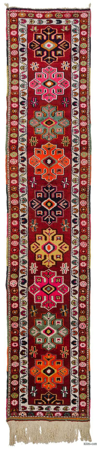 "Multicolor Vintage Turkish Runner Rug - 2' 8"" x 13' 9"" (32 in. x 165 in.)"